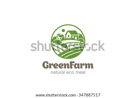 eco green farm circle logo