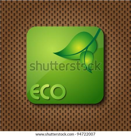 eco green logo icon / button