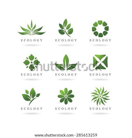 eco green logos vector