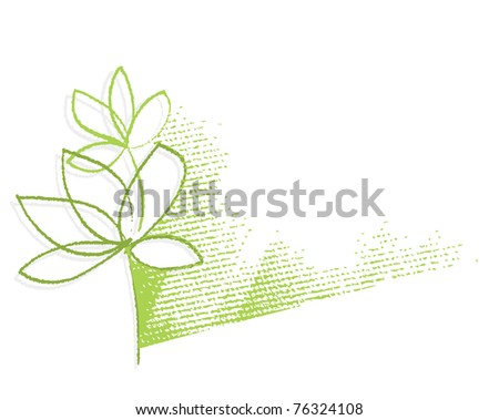 eco   green plant motive