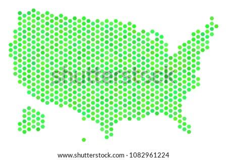 eco green usa with alaska map