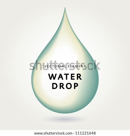 Eco green water drop element