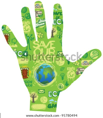 eco hand save our planet