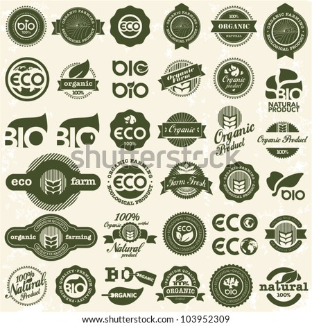 Eco icons. Ecology signs set.