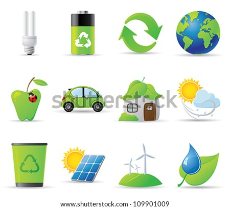 Eco icons - 12 environment-related icons