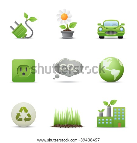 Eco icons set # 2