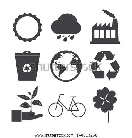 Eco icons set. Vector EPS 10