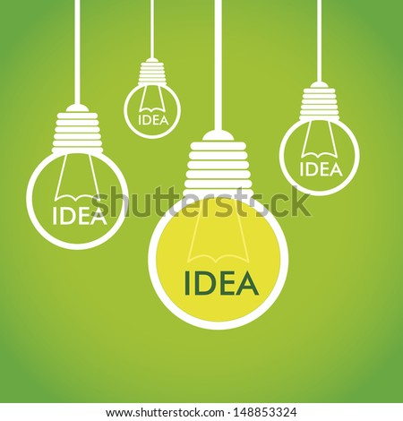 eco idea over green background
