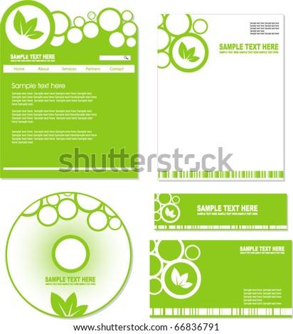 eco identity kit - stock vector