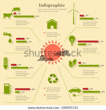 Eco infographic elements. Vector set