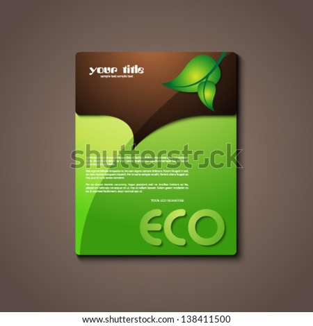 eco information sign / logo