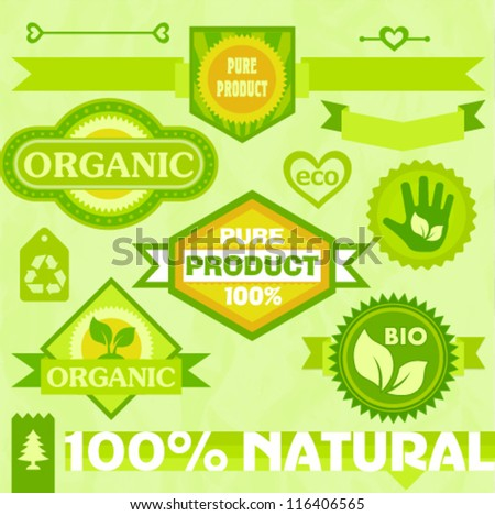 Eco labels and stickers