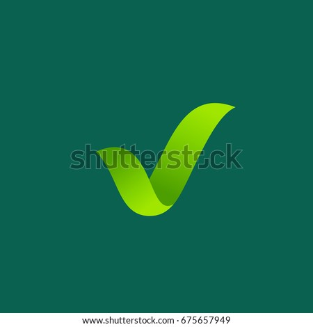 eco leaves check mark logo icon