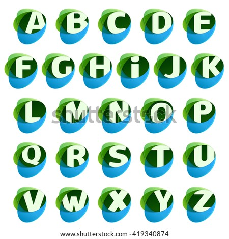 eco letters with leaves and