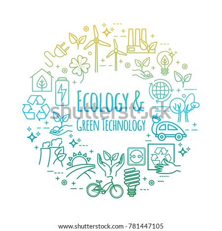 Eco lifestyle, zero waste concept, recycle and reuse. Vector concept for your design
