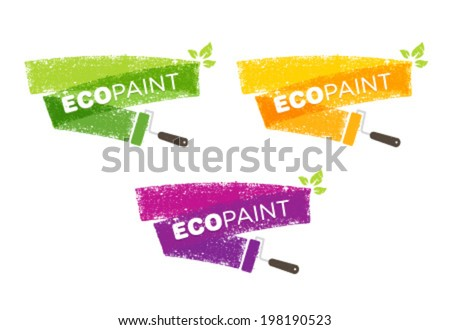 eco paint grunge brush creative