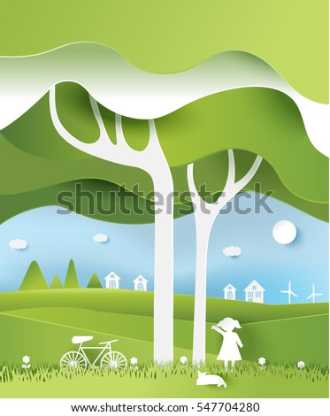 eco paper art design style
