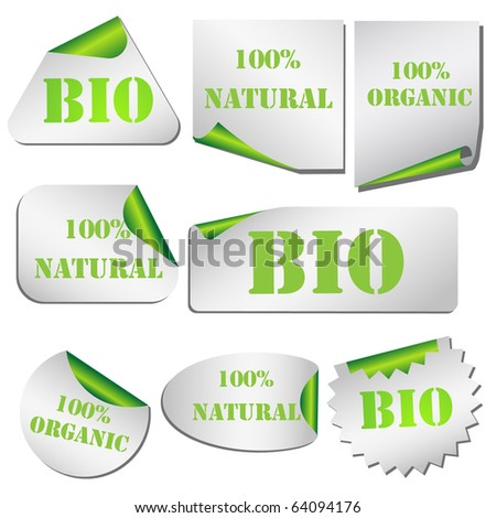 Eco Pealing paper set isolated on white vrctor