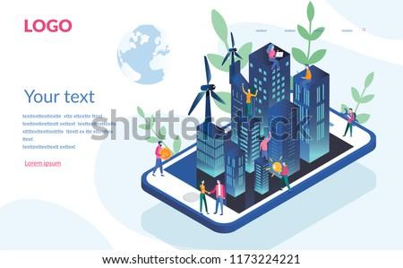 eco smart city concept for web