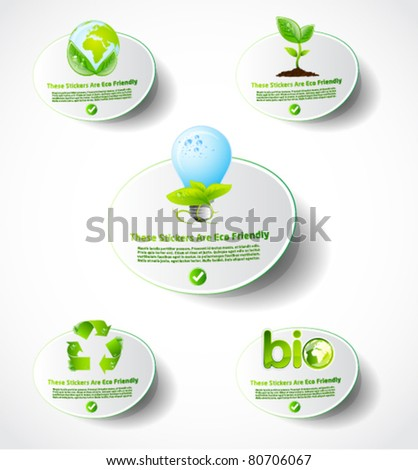 Eco sticker collection 1
