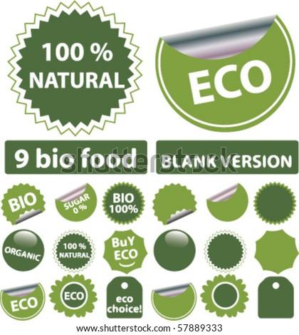 eco stickers. vector