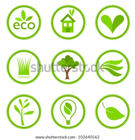 Eco symbols collection. Vector illustration