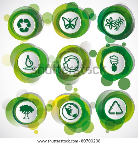 Eco Symbols Set.