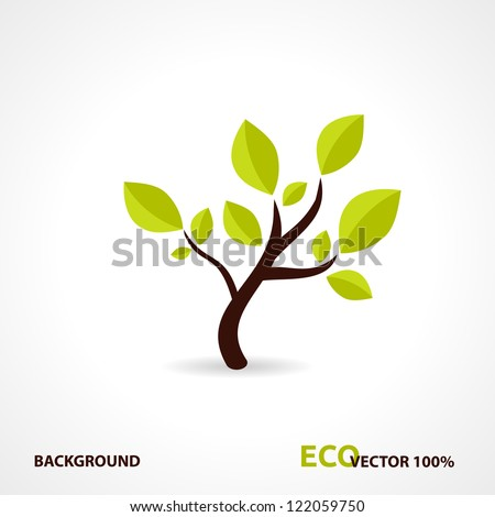 Eco Tech. Ecology Design Background. Vector Illustration.