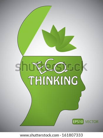 Eco thinking concept. Easy to edit vector design.