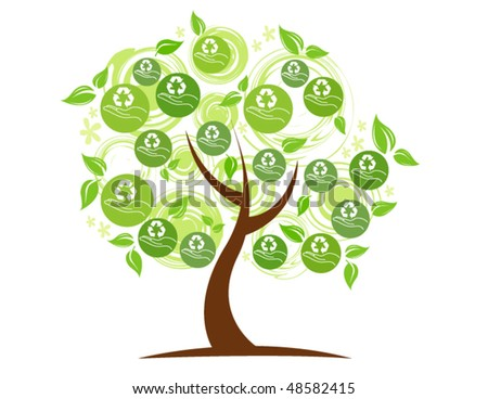 eco tree.vector illustration