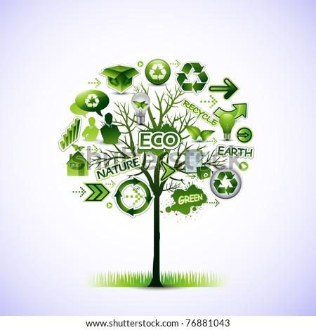 Eco tree vector illustration