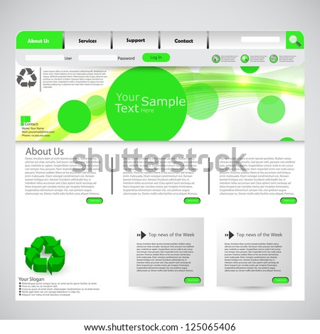 Eco website template with clean design