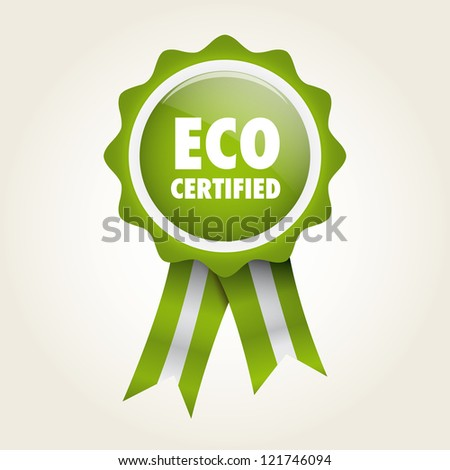 ecologic bio label badge