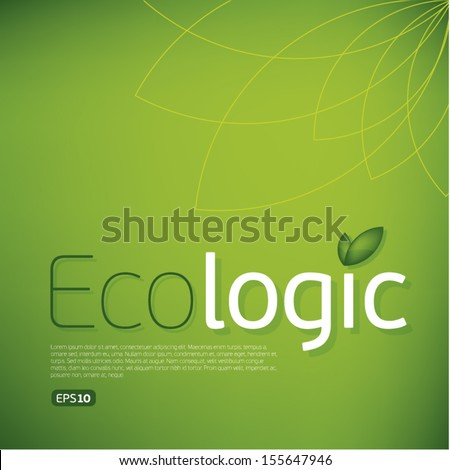 Ecologic icon background.Think Green. Concept. - Shutterstock ID 155647946