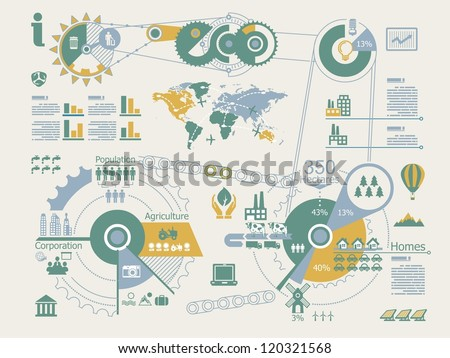 ecologic info graphics,vector elements,