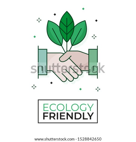 Ecological agreement icon - Ecology friendly - Editable stroke