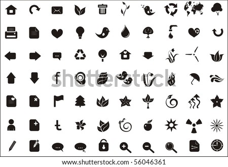 ecological and web icons for your ecological website - stock vector