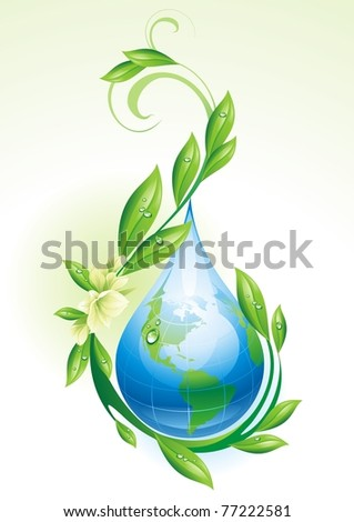 ecological background with the