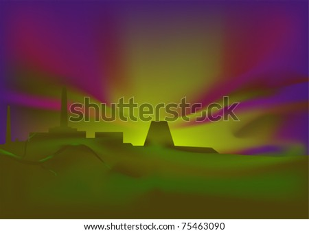 Ecological Catastrophe Stock Vector 75463090 : Shutterstock