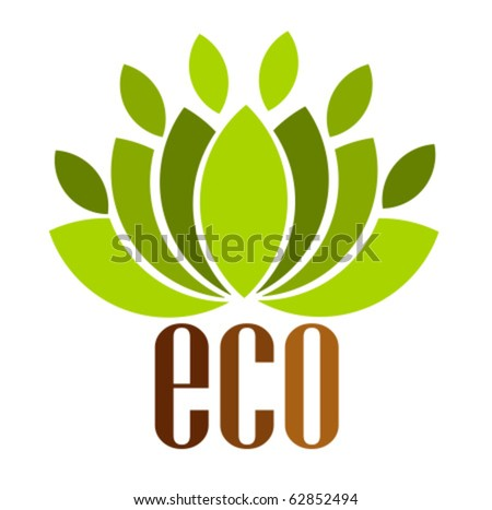 Ecological emblem or logo. Vector illustration