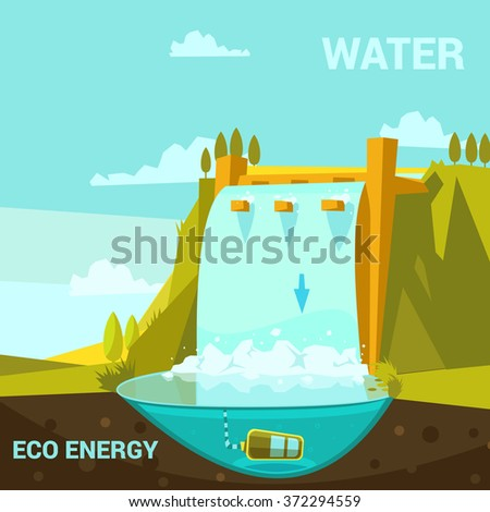 ecological energy poster with...