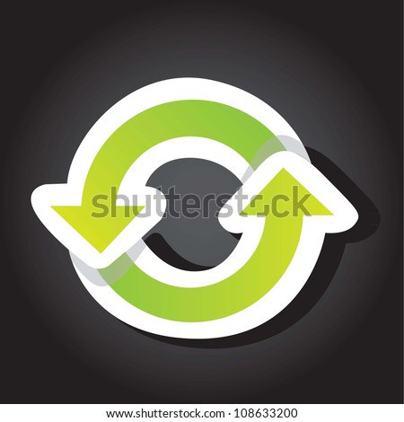 ecological green circle over black background