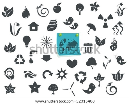 Ecological Icons Free to Download on Vectorstock