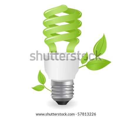ecological lightbulb icon in vector format