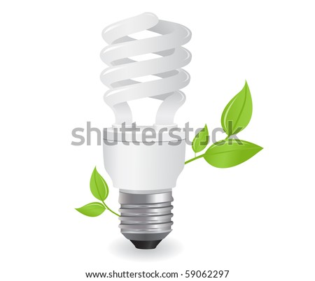 ecological lightbulbs icon in vector format