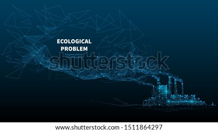 ecological problem low poly art