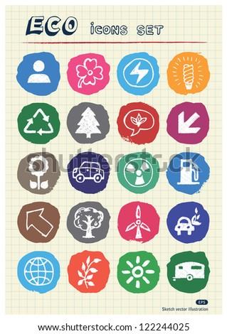 ecology and nature web icons