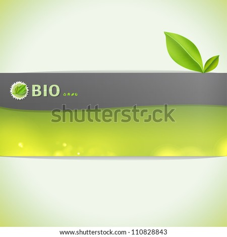 Ecology background card. Vector design.