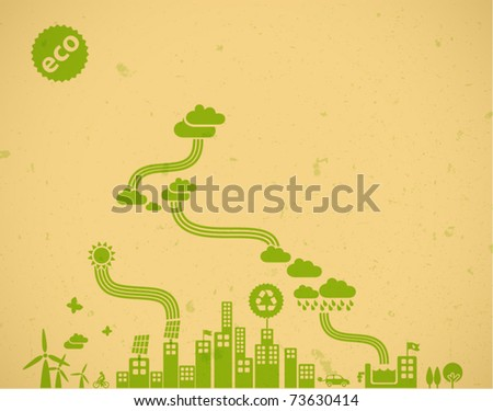 ecology background / eco visual - stock vector