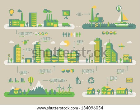 ecology background  vector info